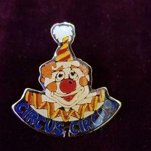 Vintage Circus Circus Lapel Pin